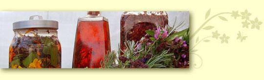 Körperessig, Johanniskrautöl und Tinktur
