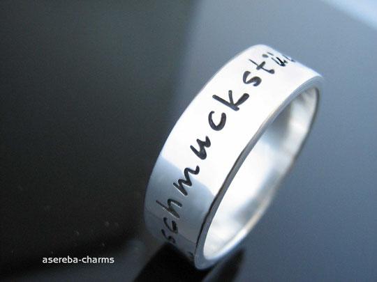 Sterlingsilber-Ring mit Botschaft