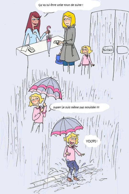 « Ce qui est mouillé ne craint pas la pluie. »  Proverbe grec