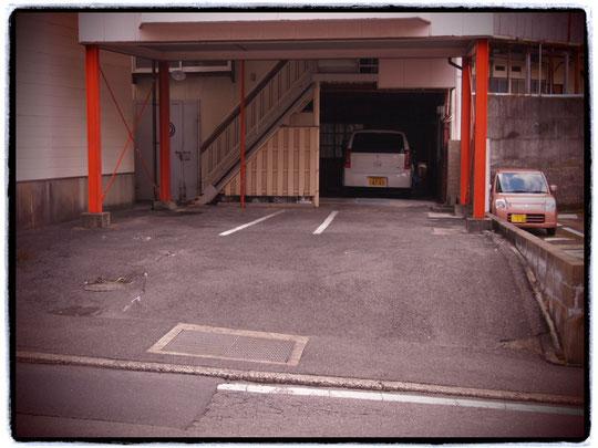 駐車スペースはこのくらいです。