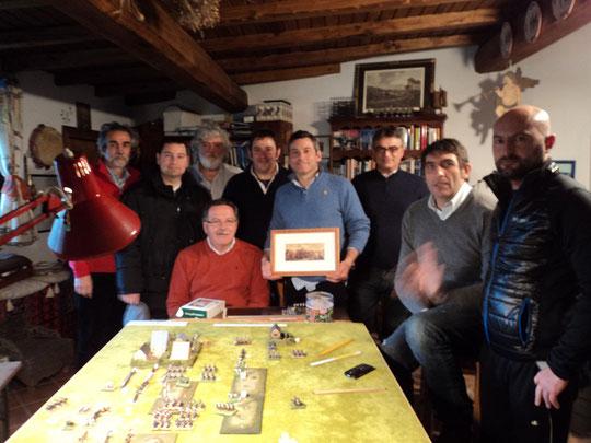 Da sinistra:Thierry Poullain, Renzo Roberto, Luigi Pecchia, Loris Mazzoletti, Mauro Folgori, Stefano Plescia, Piero Niro, Angelo Raviele, Fabio Zidaric
