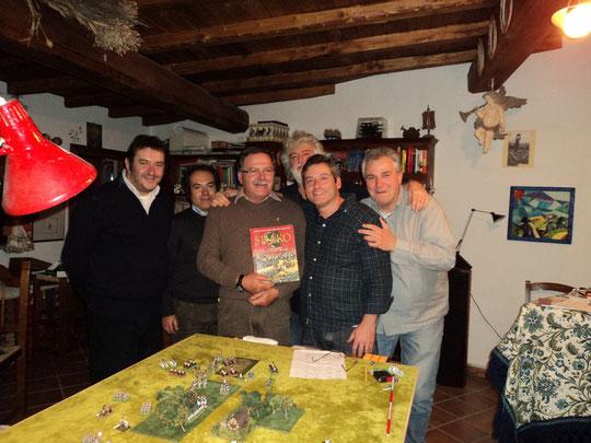 Da sinistra: Mauro Folgori, Federico Bartelli, Loris Mazzoletti, Luigi Pecchia, Stefano Plescia e Fausto Cominato.