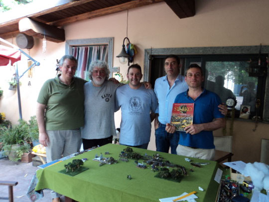 Da sinistra: Fausto Cominato, Luigi Pecchia, Mauro Folgori, Angelo Raviele e Stefano Plescia