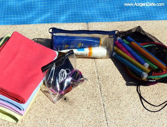 Organiza los accesorios de las actividades de verano - AorganiZarte