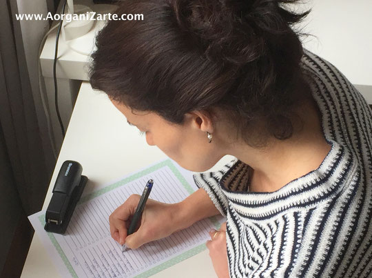 escribe las diferentes tareas para llevar a cabo tu proyecto - AorganiZarte.com