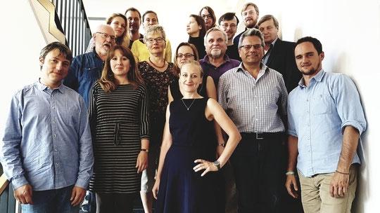 "Die Teilnehmer der ""Berliner Erklärung"" am 3.7. 2017 an der HU Berlin"