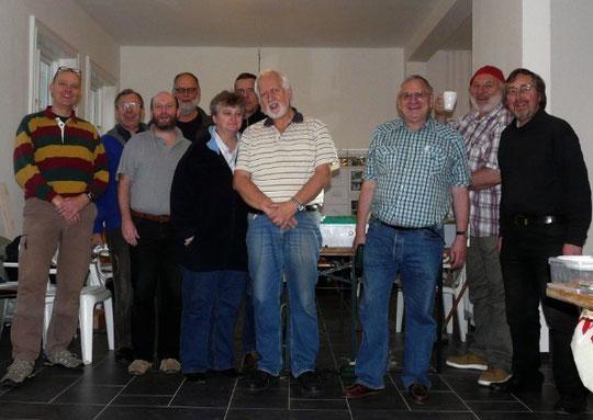 Teilnehmer am Aufbau- und Fahrtag im Forsthaus des Stadtpark Vereins Hamburg