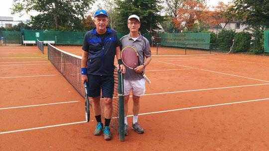 Sieger und Vize der Offenen Herrenklasse: Raimund Behler (r) und Dieter Mathiszik