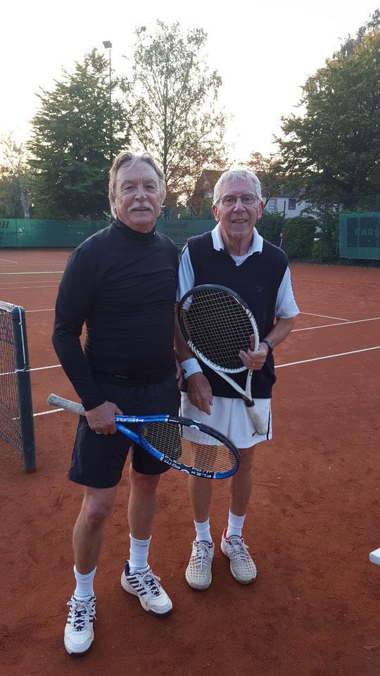 Wirken doch noch ganz frisch: Fred und Günter nach dem Endspiel