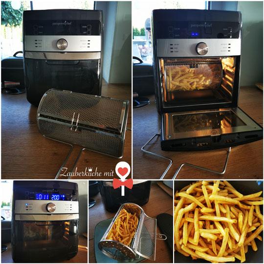 Pommes-frites Deluxe Air Fryer Pampered Chef, Zauberküche mit Herz
