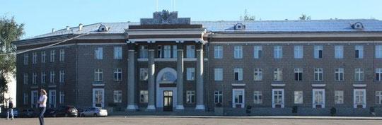 Здание администрации расположено на центральной площади города Салават - площади В.И. Ленина