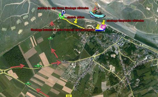 Zone d'Arrivée et de Débarquement à Saint-Valery/Somme