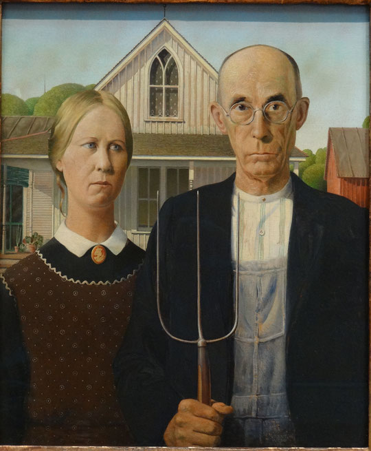 Grant Wood : american gothic