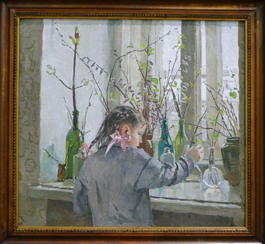 Tatyana Yablonskaya (1917-2005) : printemps sur le rebord de la fenêtre