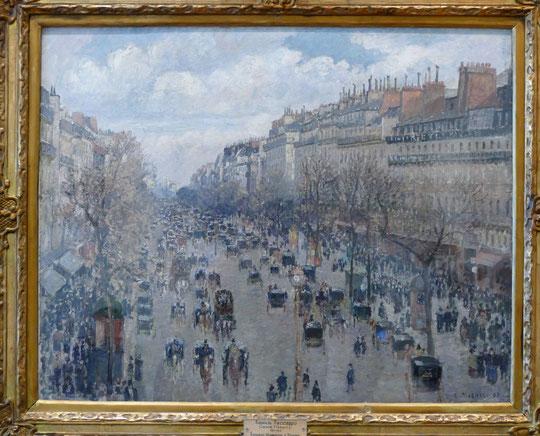 Camille Pissarro (1830-1903) : boulevard Montmartre, après-midi ensoleillé