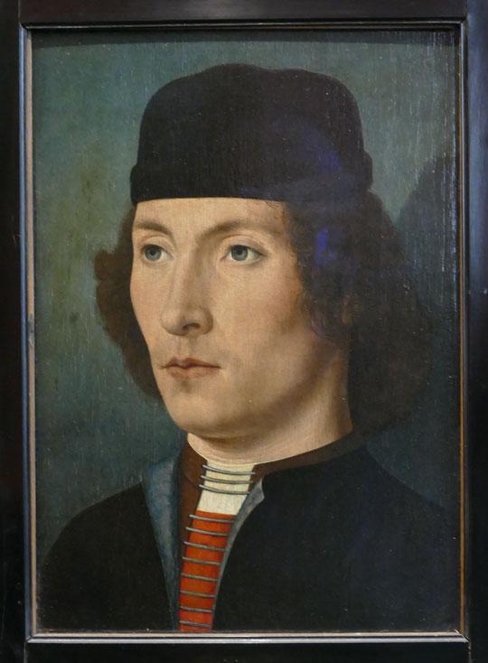 Bruges fin XVe siècle : portrait d'un jeune homme