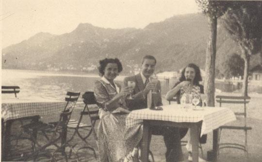 Jacqueline, Roland à Saint Gingolph en 1946