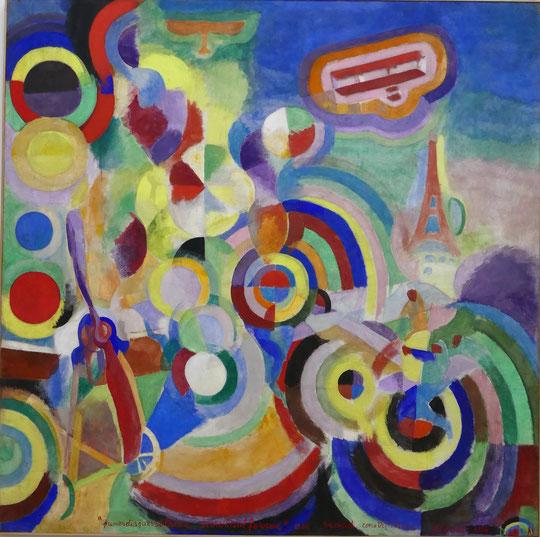 Robert Delaunay : hommage à Blériot, 1914