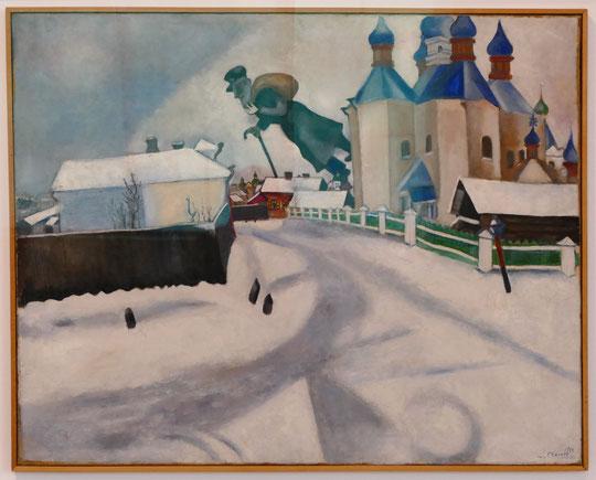 M. Chagall : au-dessus de Vitebsk, 1922