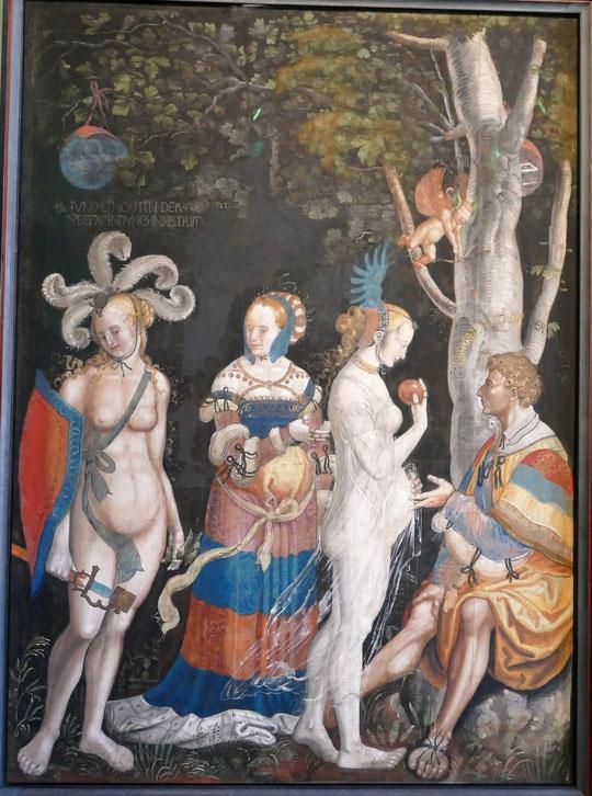 Niklaus Manuel dit Deutsch : le jugement de Pâris, 1517-18