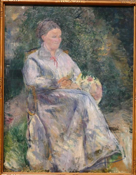 Camille Pissarro : Julie Pissarro au jardin, vers 1874