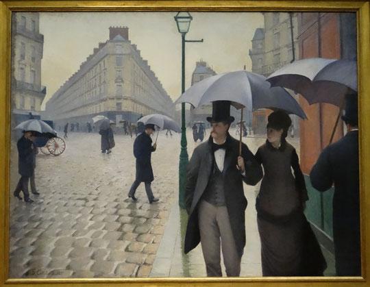 Gustave Caillebotte : rue de Paris, jour de pluie