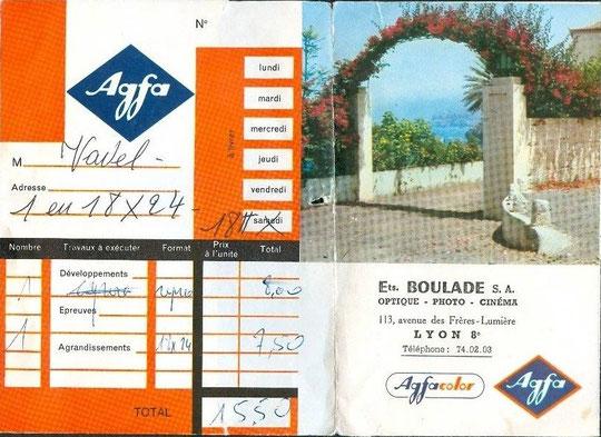 des travaux photos (développement et tirages) chez Boulade