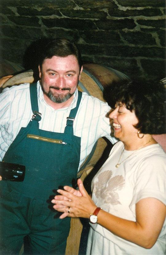 Joseph Roty avec Annie dans la cave