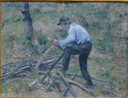 Camille Pissarro : Père Melon sciant du bois, 1879