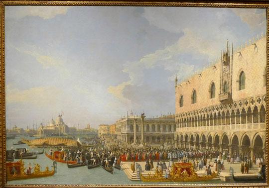 G.A. Canaletto : réception d'un ambassadeur au palais des Doges, vers 1730