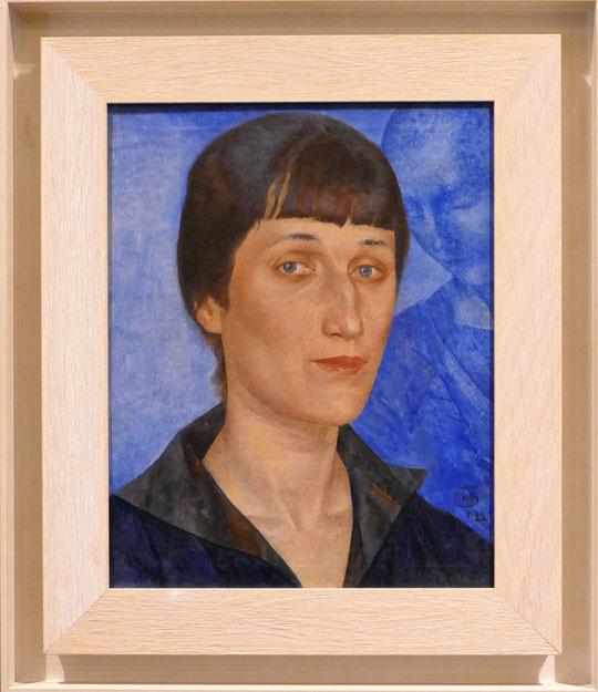 Kusma Petrov-Vodkin (1878-1939) : portrait d'Anna Akhmatova (1922)