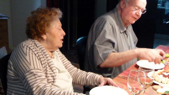 Avec Pierrette en 2014
