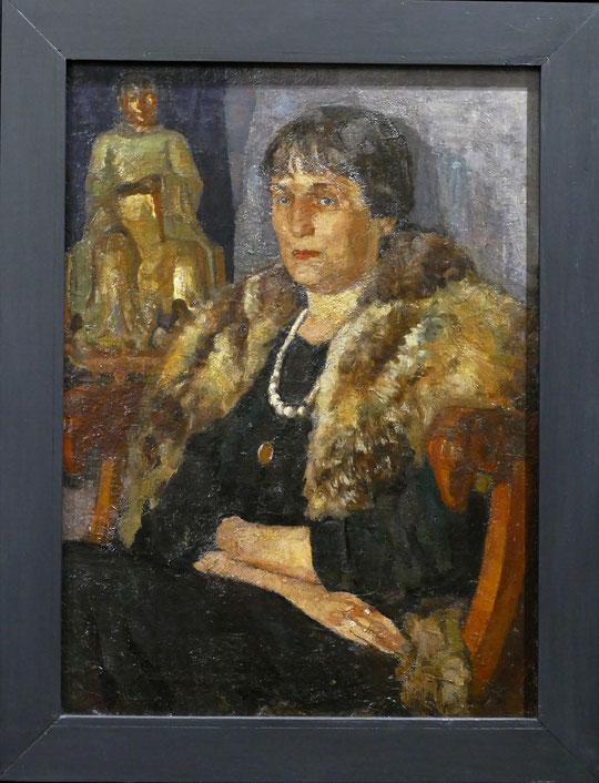 Veniamin Belkin (1884-1951)  : portrait d'Anna Akhmatova (1924)