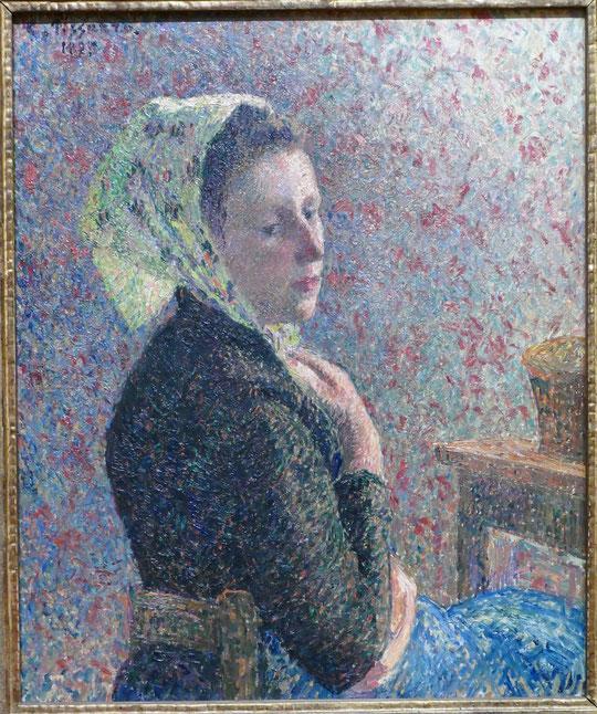 Camille Pissarro : femme au fichu vert, 1893