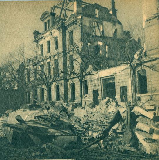 L'école de Santé militaire, siège de la Gestapo a été bombardée