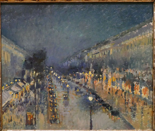 Camille Pissarro : le boulevard Montmartre, effet de nuit, 1897