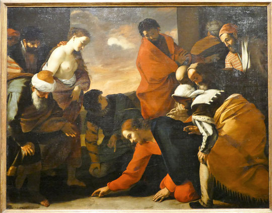 Mattia Pratti : Jésus et l'adultère, 1435-45