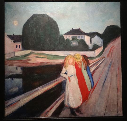 Edvard Munch, jeunes filles sur le pont