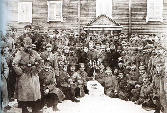Hanoucca 1916 sur le front de l'est
