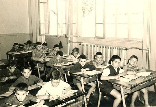 à l'école en 1956-1957