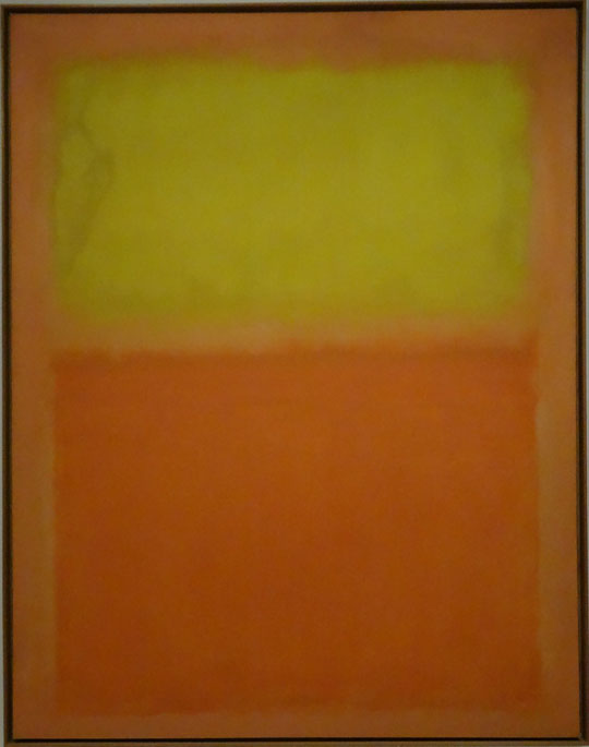 Mark Rothko : orange et jaune