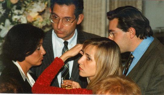 En 1992, de gauche à droite, Martine, Michel, Pascale et Franck.