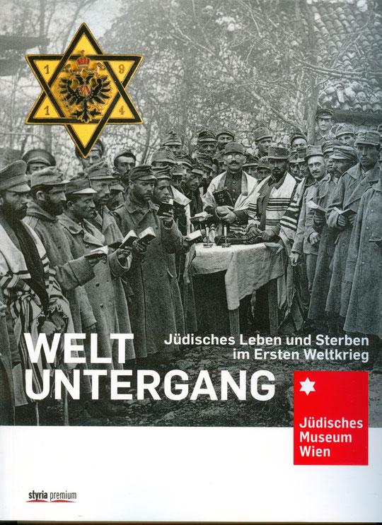 Ouvrage collectif richement illustré sur les Juifs dans la première guerre mondiale, publié en relation avec une exposition présentée en 2014 par le Musée juif de Vienne.