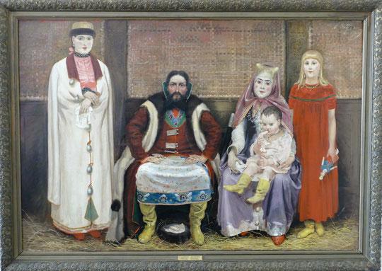 Andrei Ryabushkin (1861-1904) : famille d'un commerçant