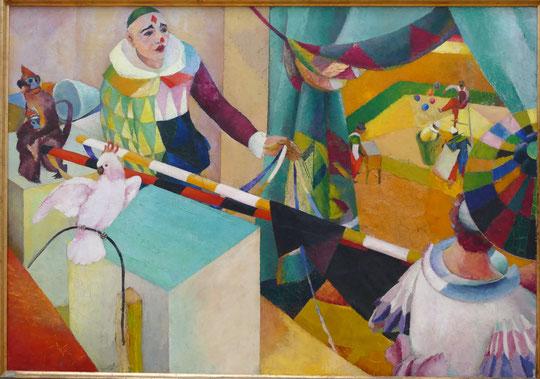 Louis Moilliet : au cirque (3e version), 1914-15