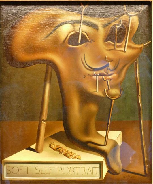 Autoportrait mou avec des lardons grillés (1941)