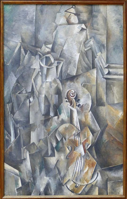 Georges Braque : broc et violon, 1909-10