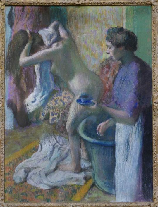 E. Degas : le petit déjeuner à la sortie du bain, vers 1895