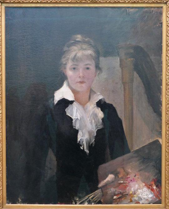Marie Bashkirtseff : autoportrait à la palette, 1883