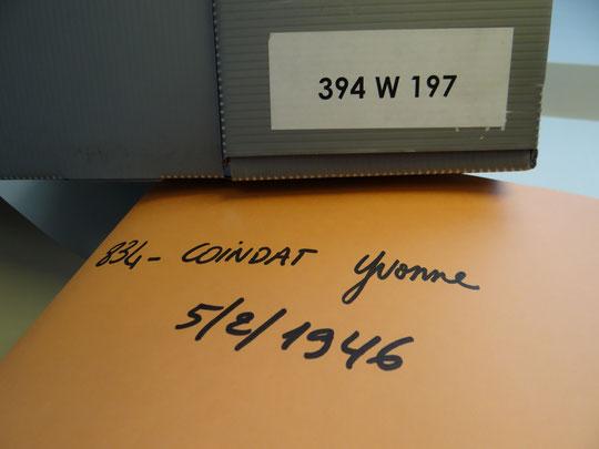 """le """"dossier Coindat"""" aux Archives départementales du Rhône"""